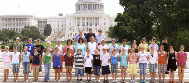The 2008 group that went on the annual We See D.C. trip stand in front of the Capitol Building in Washington, D.C. There are spots available for anyone interested in this year's trip. An interest and informational meeting will be at 6:30 p.m. Tuesday at Craig Intermediate School.