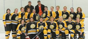 The Chix with Stix hockey team finished second in its season-ending hockey tournament. The finish was the team's best in its history.