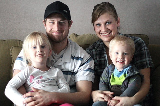 The Herring family, from left, Samantha, 4, Jon, Caitlin and Conner. Conner, 2, has received physical and speech therapy from Horizons Specialized Services' Early Intervention program.