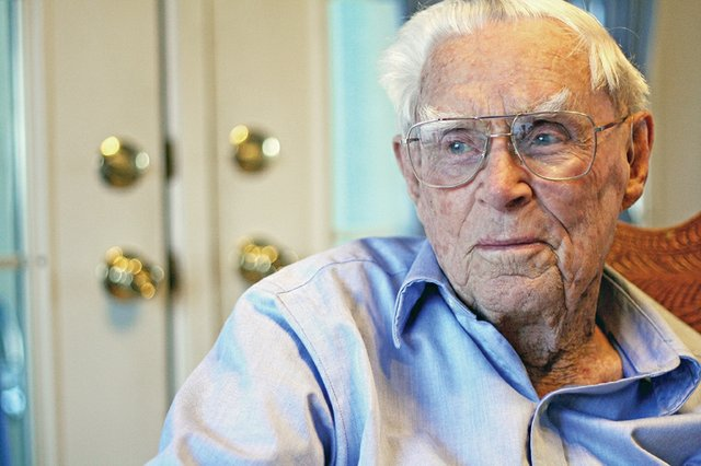 Perry Van Dorn sits in his Ranney Street home in Craig. Perry, who is 95, has lived in Moffat County for most of his life, and has witnessed the area's many changes over its nearly 100 years.