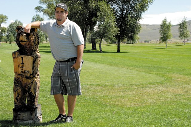 Sean Smith, a Craig resident, stands next to the first tee box at Yampa Valley Golf Course. Smith, who has been playing golf since his freshman year at Moffat County High School, shared his tips for every hole on the course in preparation for the 2011 Men's and Ladies Club Championships, which begin today and conclude Sunday.