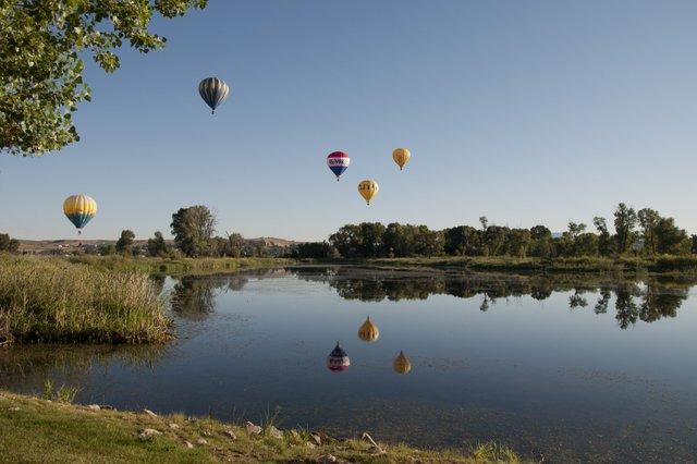 Hot air balloons dot the morning sky Saturday above Loudy-Simpson Park as part of the second Moffat County Hot Air Balloon Festival. Awards were given to pilots for longest and shortest flights, and people's choice.