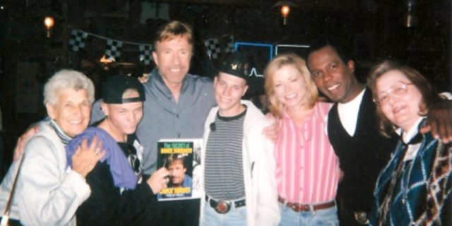 Miracles happen, Pastor Linda Taylor, of Maybell Community Bible Church, writes in this week's religion column. She cites her friend, Shawn, fourth from the left in a white hoodie, as an example. The prayers of Shawn and his family were answered, Taylor writes, when his wish to meet TV and film star Chuck Norris came true. Shawn is also now leukemia free, which Taylor also credits to prayer.