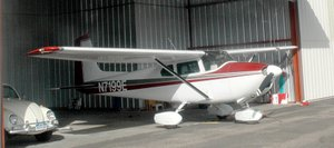Vic Vickreys 1959 Cessna 182B stays out of the weather year-round in its hangar at Steamboat Springs Airport. A private developer is proposing to build seven new hangars at the airport.
