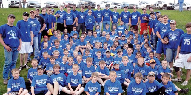 The Big Blue Football Camp, which teaches basics of the sport to young players from kindergarten through fifth-grade, is set for sessions May 8 and 9 at the Moffat County High School practice field.