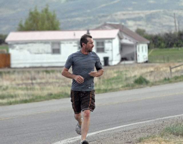 A local resident takes a run Wednesday afternoon near Colorado Highway 394 and Ranney St. in Craig. Moffat County Commissioners and area health officials on Tuesday explored ways to encourage positive lifestyle habits in the community following the April release of concerning statistics from the Colorado Department of Public Health and Environment.