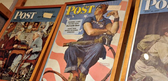Rosie the Riveter takes center stage on a cover Norman Rockwell painted for a 1943 edition of The Saturday Evening Post, shown here at the Museum of Northwest Colorado. Tom Daly, curator of education at the Norman Rockwell Museum, will speak about the illustrators life and work at free presentations scheduled for 10 a.m. and 2 p.m. Saturday at The Center of Craig, 601 Yampa Ave. 
