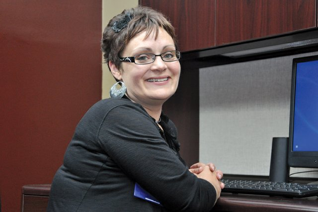 Dr. Kristie Yarmer, pictured here in her office at The Memorial Hospital Medical Clinic, is the first of two pediatricians coming to Craig to work in The Memorial Hospitals new pediatrics program. Its exciting to get to be on the ground level of pediatrics here, said Yarmer, who will begin seeing patients Monday. 