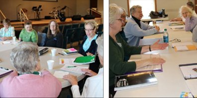 Students in Mary Morris memoir writing class at CNCC, pictured above, shared thoughts and memories about past Fourths of July experiences and what being American means to them.