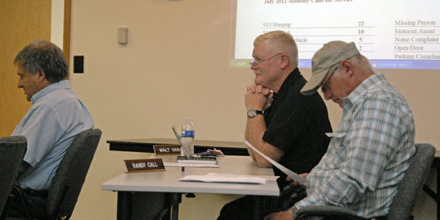 Craig Police Chief Walt Vanatta fields questions about his month-end police report Tuesday night at the Craig City Council meeting.