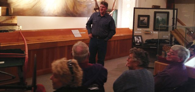Bill Betenson speaks with community members Saturday at the Museum of Northwest Colorado. Betenson, a great-grandnephew of famous outlaw Butch Cassidy, came through Craig on a book tour for his recent book about Cassidy. He discussed Cassidy's legend and took questions from the crowd during his visit.