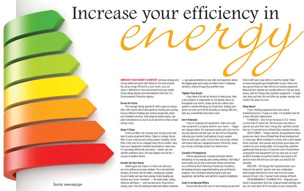Increase your efficiency in energy