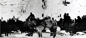100 Years of Altitude: Howelsen Hill during an early Winter Carnival.