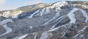 The view of Mount Werner on Monday afternoon showed a white band of snow stretching from Thunderhead down Heavenly Daze to the lower part of the mountain at Steamboat Ski Area. Officials are hoping for several more days of cold temperatures to make snow. Officials also announced that four trails off the Christie Peak Express will be open for Wednesday's Scholarship Day including Sitz, Vogue, Stampede and Jess' Cut-Off as well as the Desperado learning area.