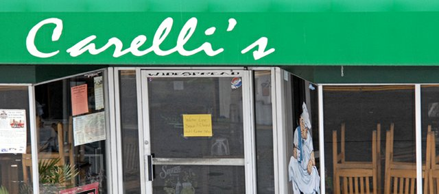 Carelli's Pizza, 465 Yampa Ave., was forced to close recently when a water line broke in the men and women's restroom. The restaurant is scheduled to reopen Friday in time for the Thanksgiving Holiday weekend.