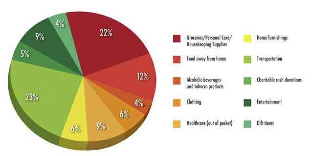 This graphic, based on data from the Yampa Valley Data Partners 2012 consumer preference study, breaks down where Moffat County residents spent their disposable income on a local level.