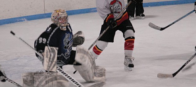 Craig goalie Trent Parrot made almost 500 saves this season for the Craig Midget Hockey team. The Bulldogs were playing in a new league, and finished with four games Saturday and Sunday at the Moffat County Ice Rink
