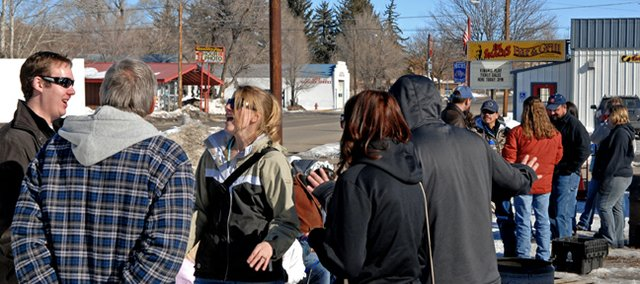 Craig residents camp out Saturday in the parking lot across the street from J.W. Snacks waiting for ticket sales to open for the annual Kiwanis Play. The play is slated for 8 p.m. March 1 and 2 at the Moffat County Fairgrounds Pavilion.