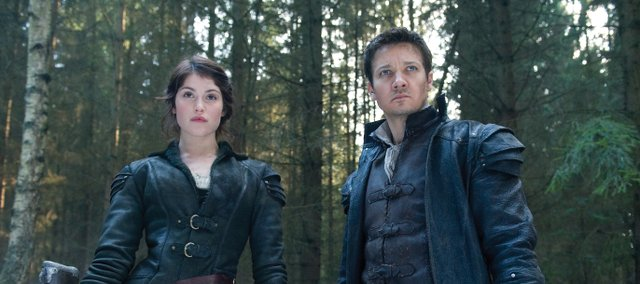 "Siblings Gretel and Hansel (Gemma Arterton, Jeremy Renner) venture into the forest in ""Hansel & Gretel: Witch Hunters."" The movie is a twist on the classic fairy tale of the brother and sister growing up to become bounty hunters of evil witches."
