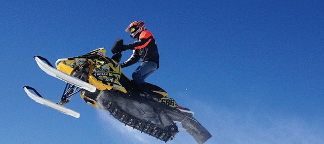 Wesley Chapman, 18, of Craig gets air off a jump. Chapman will be one of many Craig Snocross riders on display at the Wyman Winter Festival Feb. 16.