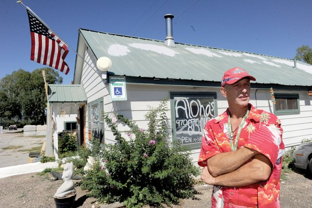 Chris Ward, owner of Aloha's medical marijuana center in Milner, closed his business Wednesday.