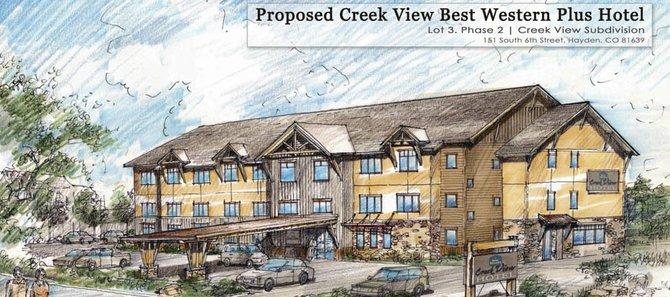 Hayden developers want to take advantage of the town's economic incentives program to secure the financing to build a 46-room proposed Best Western-branded hotel on the west side of town.