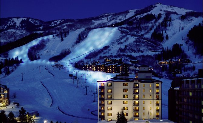 An artist rendering included in the Steamboat Springs Planning Commission's agenda for Aug. 8 shows what Steamboat Ski Area would look like at night with the new lights.
