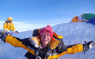 Adventurer Kim Hess presents stories of climbs, dreams