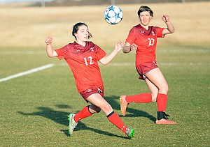 Teegan Ludwig chases down a ball in the first half of Friday's game against Golden. Steamboat lost 6-2, dropping to 0-2 on the season. The team won't get a chance to take a breath anytime soon. It returns to play at 6 p.m. Tuesday at home against rival Battle Mountain.