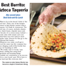 Best Burrito: Azteca Taqueria