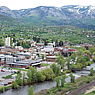 Downtown Steamboat, view from Emerald