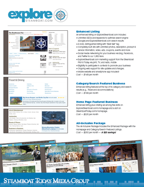 ExploreSteamboat.com Advertising Rates