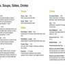 Soups, Sides & Salads