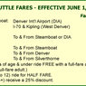 Denver International Airport shuttle