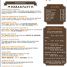 Our Breakfast Menu