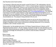 letter of interest for school