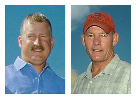 Garrett Wiggins, left, and Ray Birch are competing in the Republican primary for Routt County Sheriff today.