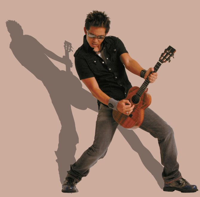Jake Shimabukuro will be rockin' the ukulele at 8 p.m. today at Strings in the Mountain Music Festival Park.
