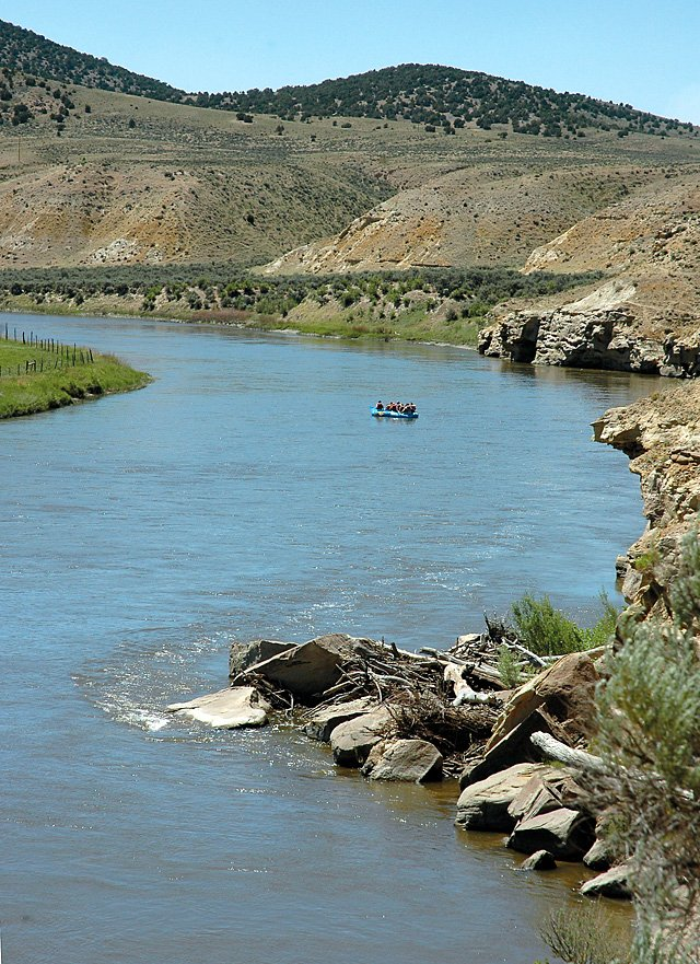 The Yampa River near Maybell in June. The Northern Colorado Water Conservancy District, which includes eight counties on the Front Range and in northeastern Colorado, has received preliminary findings from a study examining the feasibility of transferring Yampa River water across the Continental Divide.