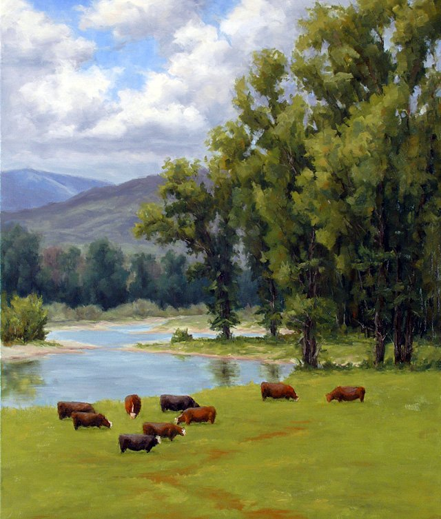 """On the Yampa,"" plein air painting by Phil Wright. He is being represented at Schiesser Gallery, formerly known as Studio Gallery 27, until Oct. 29."