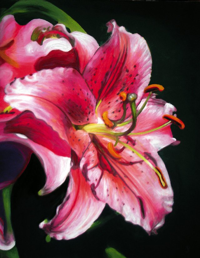 &quot;Stargazer Lily,&quot; pastel on paper by Janice Lawrence. This will be the 2007 Easter Seal and will be mailed to 15 million houses. Lawrence is represented by Schiesser Gallery and will have an opening Saturday from 4 to 9 p.m. Lawrence&#39;s work will remain on exhibit through Jan. 31.