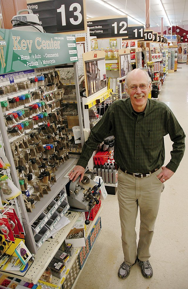 Ace at the Curve owner Dennis Swanson says the atmosphere inside the family-owned hardware store has not changed much in the 60 years his family has been in the business. His parents bought the family's first hardware store in 1946 in Batavia, Ill. Swanson opened his Steamboat store in 1984.