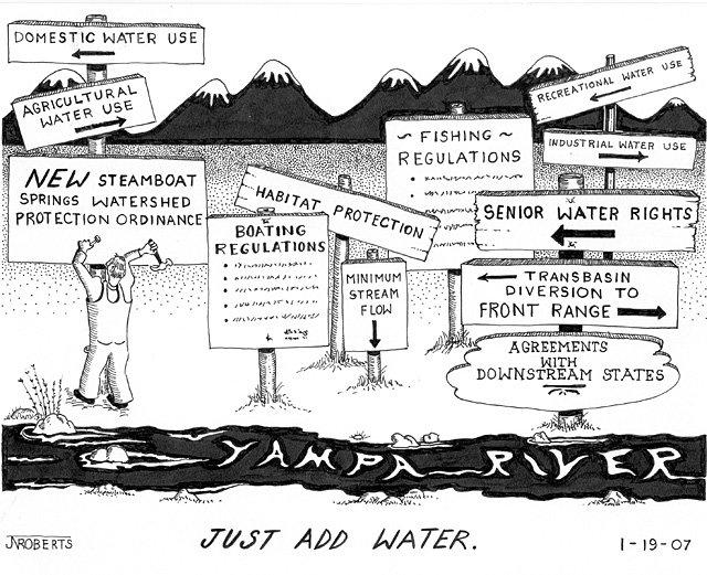 Joe Roberts' editorial cartoon for Jan. 21, 2007.