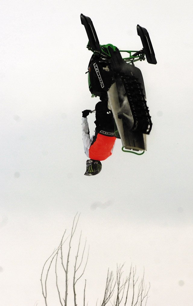 Kremmling's Chris Burandt learned his first backflip on this jump at  The Compound, a private terrain facility west of Steamboat Springs,  just over a week ago. Burandt took the backflips he dialed during weeks of local practice along with a complete bag of tricks to Winter  X, where he won the elimination event and is the favorite heading into tonight's four-man, head-to-head finals.