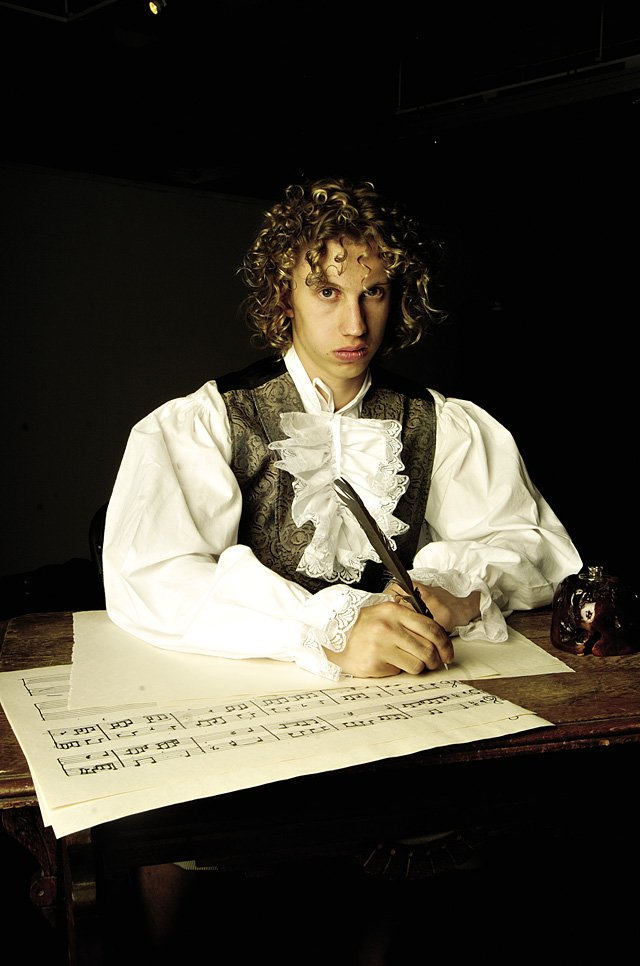 "Steamboat Springs sophomore Cody Poirot is musician Ludwig van Beethoven in a Sunday performance of ""Beethoven's Sound and Fury"" at the Depot Art Center."