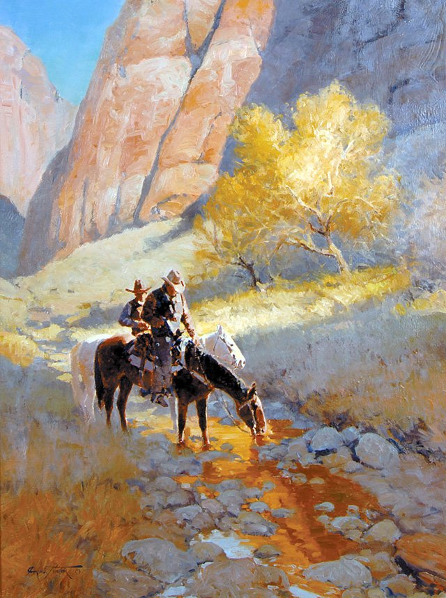 """Canyon Shadows"" by Jim Norton."