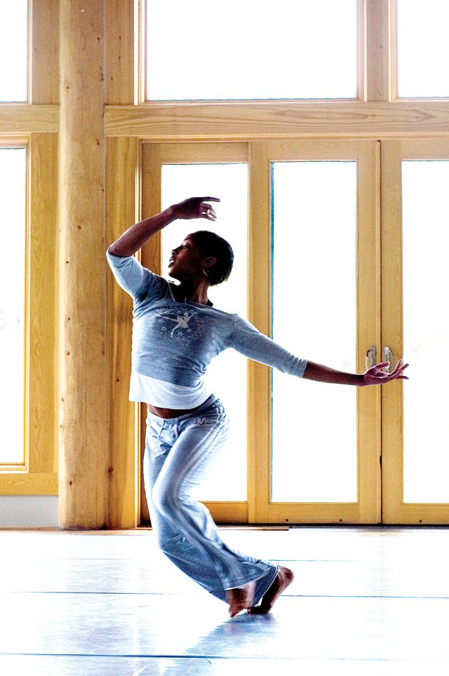 Amy McClendon dances during a rehearsal for an upcoming performance Tuesday morning at the Perry-Mansfield Performing Arts Center in Steamboat Springs.
