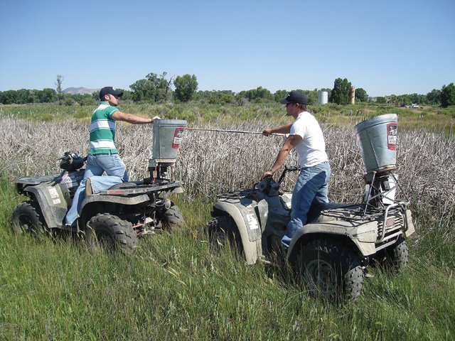 Blaine Tucker with Mountain Air Spray Company sprayed for mosquitoes over Craig and Moffat County last week as part of the program to prevent the spread of West Nile Virus. No infected mosquitoes have been found in the county this year.
