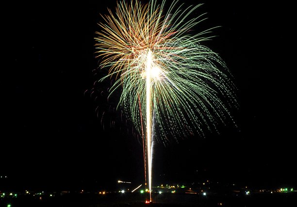 Fireworks light up the sky over Moffat County High School and Craig on Wednesday night in celebration of Independence Day. Craig Fire/Rescue presented the show, which included more than 1,000 shells.