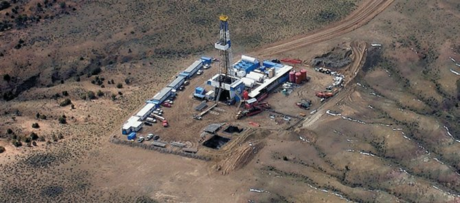 Oil and gas exploration rigs, such as this northern Moffat County outfit, might be banned from Vermillion Basin if the director of the Colorado Department of Natural Resources has his way. Director Harris Sherman released a notice Tuesday saying he would like to see more protection for sage grouse and special areas such as Vermillion Basin.